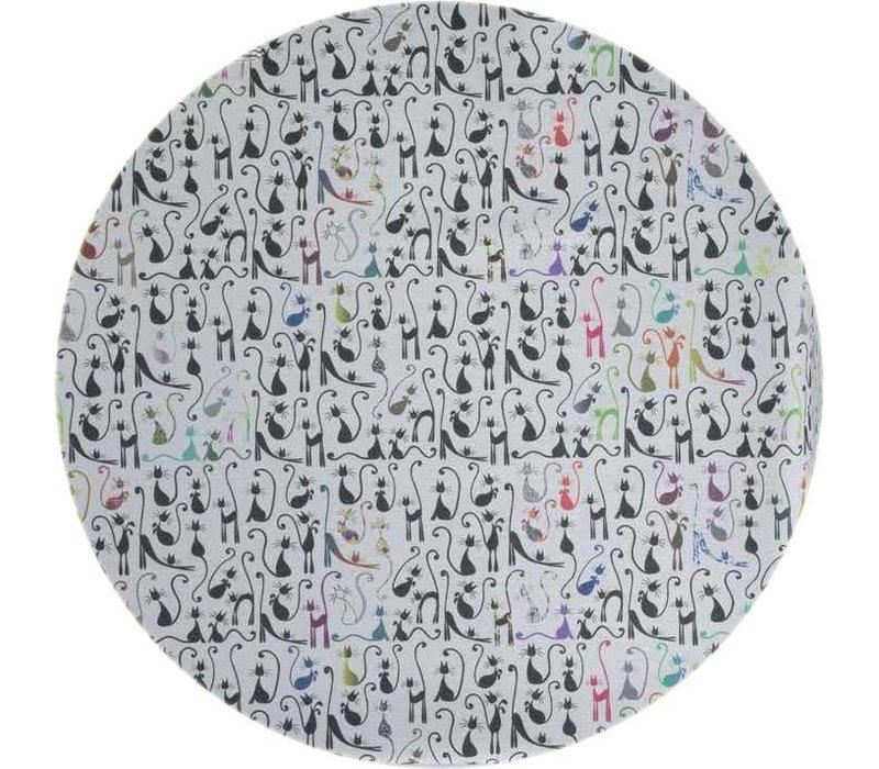 Rond Tafelkleed Gecoat - Ø 160 cm - Katten thema