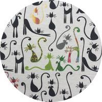 Rond Tafelkleed Gecoat - Ø 160 cm - Katten print