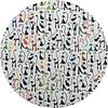 MixMamas Rond Tafelkleed Gecoat - Ø 160 cm - Katten thema