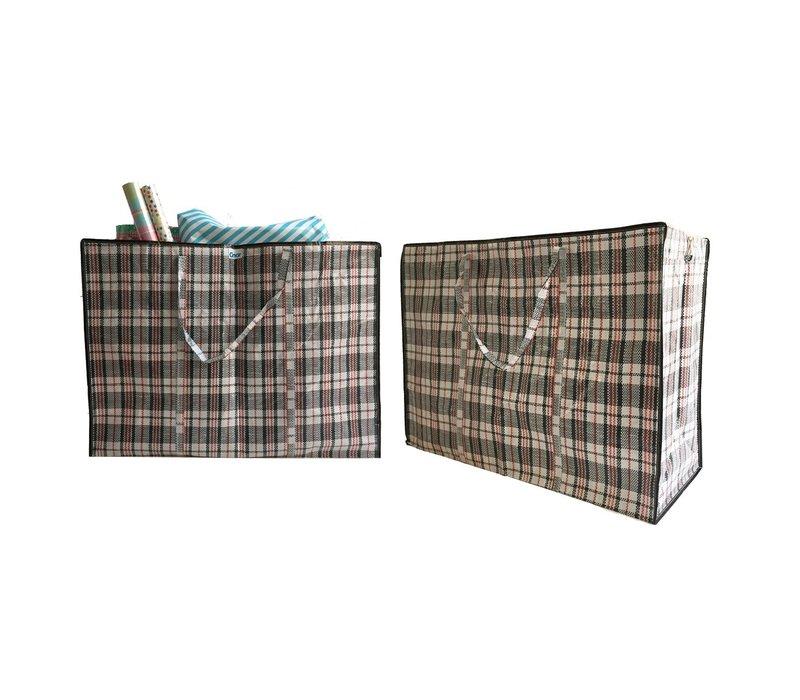 Big Shopper / Opbergtas / Waszak XL - 70 x 50 cm - Set van 2- Zwart