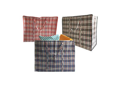 MixMamas Big Shopper / Opbergtas / Waszak XL - 70 x 50 cm - Set van 3 - Rood/Blauw/Zwart