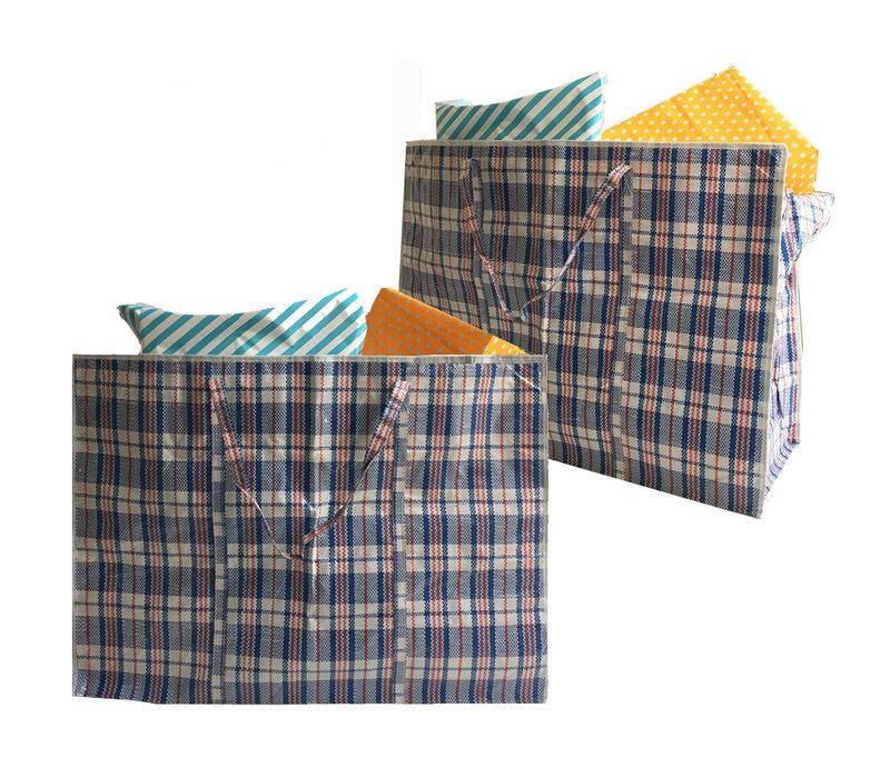 Big Shopper / Opbergtas / Waszak XL - 70 x 50 cm - Set van 2 - Blauw