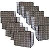 MixMamas Big Shopper Boodschappentas - 60 x 50 cm - Set van 10 - Zwart