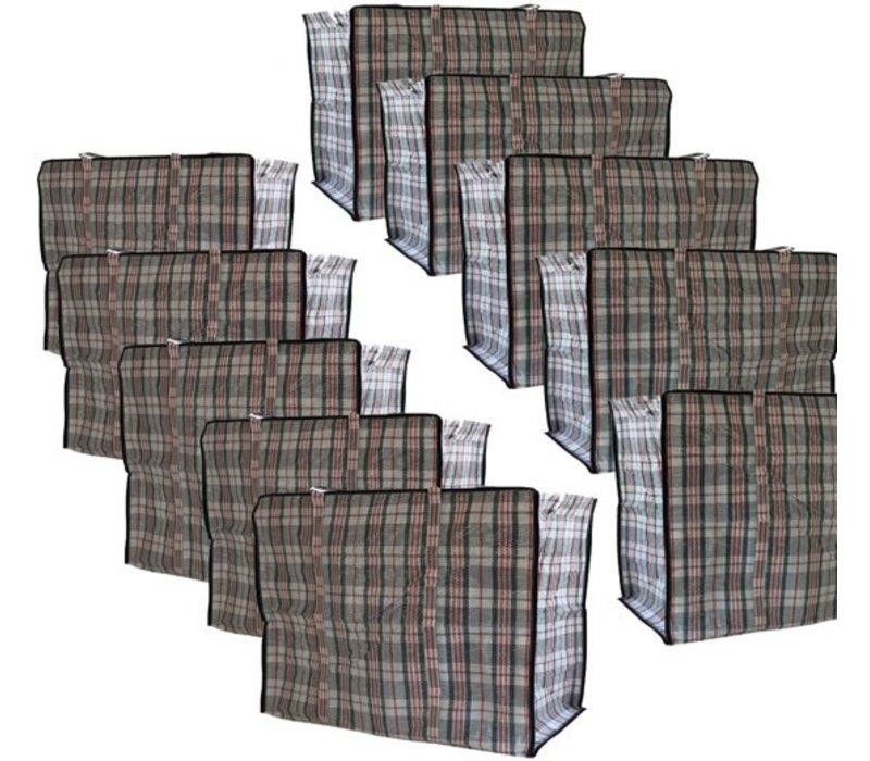 Big Shopper Boodschappentas - 60 x 50 cm - Set van 10 - Zwart