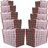 MixMamas Big Shopper Boodschappentas - 60 x 50 cm - Set van 10 - Rood