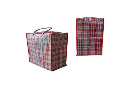 MixMamas Big Shopper Boodschappentas - 60 x 50 cm - Set van 2 - Rood