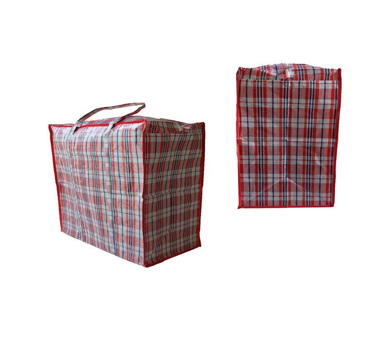 Big Shopper Boodschappentas -  60 x 50 cm - 90 L - Set van 2 - Rood