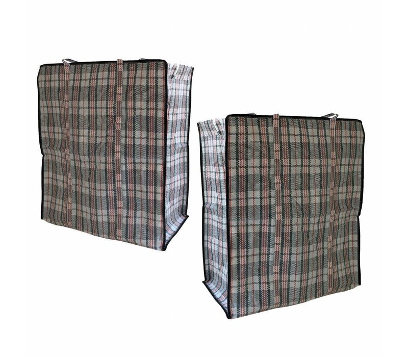 Big Shopper Boodschappentas - 55 x 65 cm - Set van 2 - Zwart