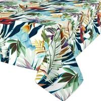 Rond Tafelkleed Gecoat - Ø 140 cm - Tropical Blues - Blauw