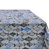 MixMamas Tafelkleed Gecoat Visjes - 140 x 250 cm - Blauw/Zwart