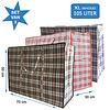 MixMamas Big Shopper / Opbergtas / Waszak XL - 70 x 50 cm - 105 L -  Set van 3 - Rood/Blauw/Zwart