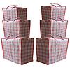 MixMamas Big Shopper XL Boodschappentas - 70 x 50 cm - Multipack 6 stuks - Rood