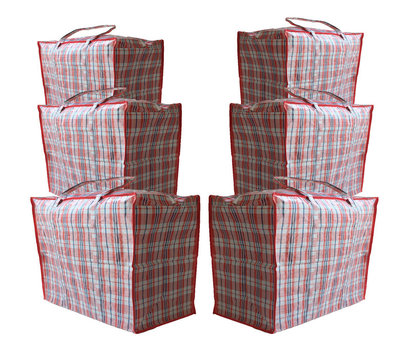 Big Shopper XL Boodschappentas - 70 x 50 cm - Multipack 6 stuks - Rood