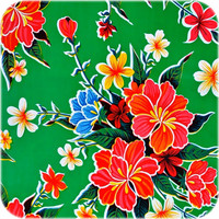 Mexicaans Tafelzeil Fortin - 120 x 300 cm - Groen