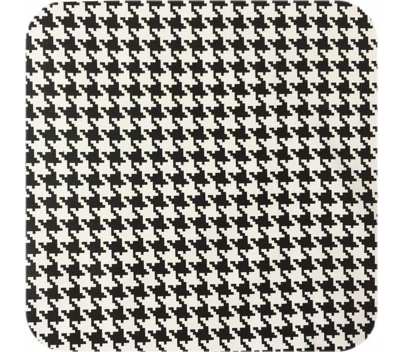 Tafelzeil Pied de Poule - 120 cm x 250 cm - Zwart