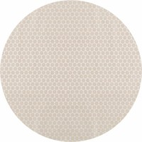 Rond Tafelkleed Gecoat - Ø 140 cm - Linnen Stippen - Beige/Crème