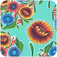 Mexicaans Tafelzeil Floral - 120 x 220 cm - Mintgroen