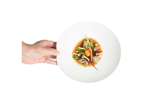 Cookplay Cookplay Shell schalen - 2-delig- Porselein - 22 cm - Wit