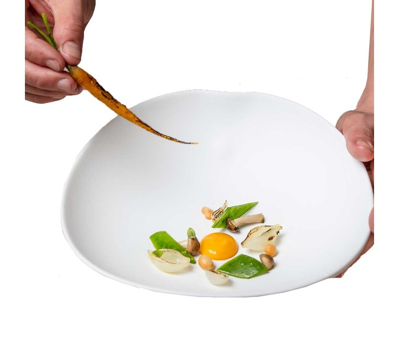 Cookplay Shell schalen - 2-delig- Porselein - 22 cm - Wit
