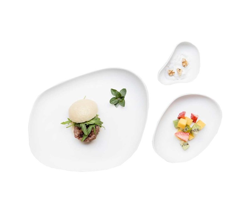 Cookplay Yayoi Dinerset - 4-delig - Mat Porselein -Wit