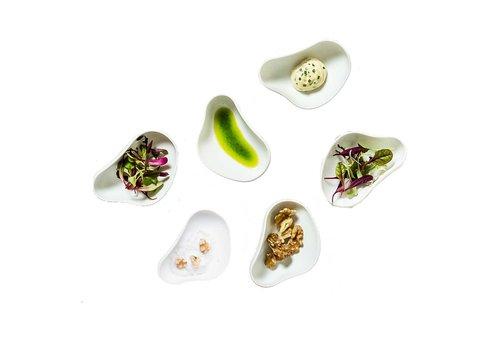 Cookplay Cookplay Tapas schaaltjes Yayoi  - 6-delig - Porselein - 10 x 6 cm - Wit