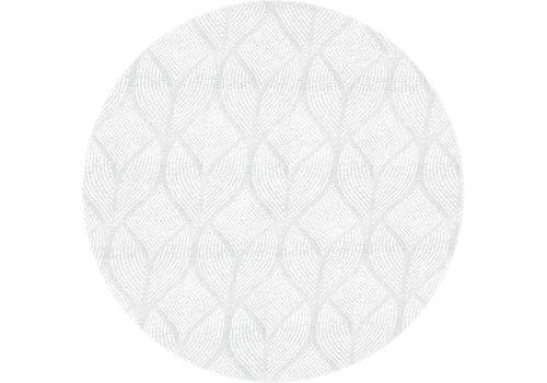 MixMamas Rond Tafelkleed Gecoat Jacquard - Ø 180 cm -Ogee - Wit