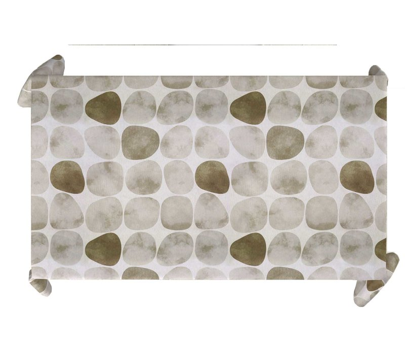 Tafelkleed Gecoat Keien - 140 x 250 cm - Beige