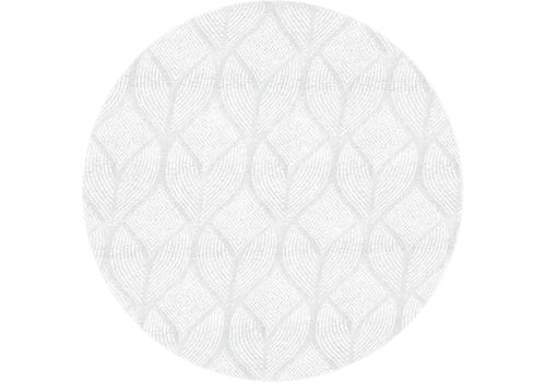 MixMamas Rond Tafelkleed Gecoat Jacquard - Ø 160 cm - Ogee - Wit