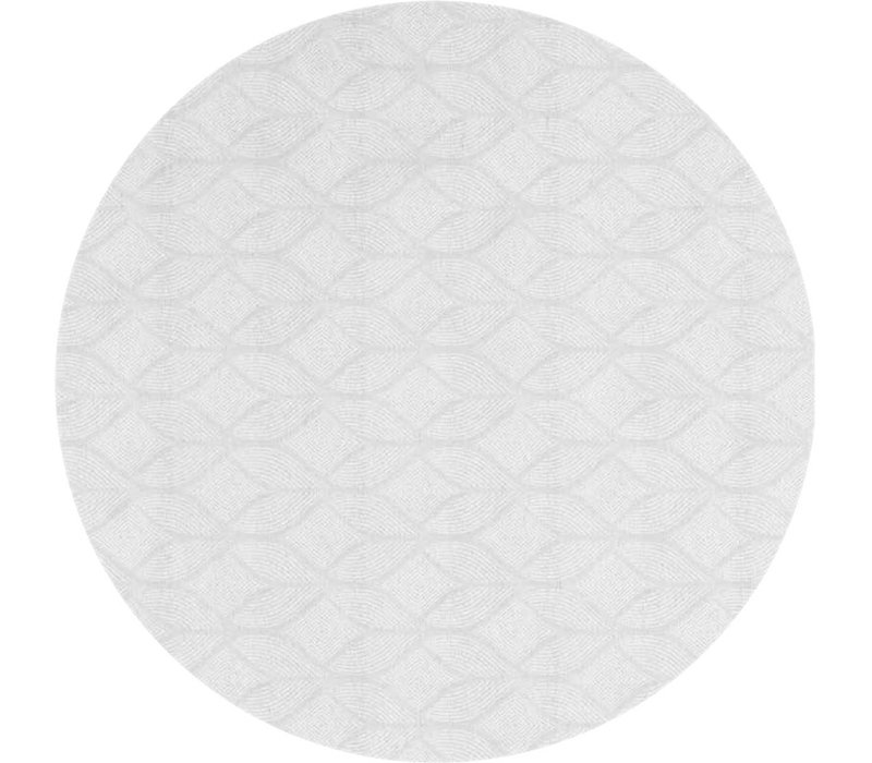 Rond Tafelkleed Gecoat Jacquard - Ø 160 cm - Ogee - Wit