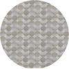 MixMamas Rond Tafelkleed Gecoat Jacquard- Ø 160 cm – Spliced Hexagon - Beige