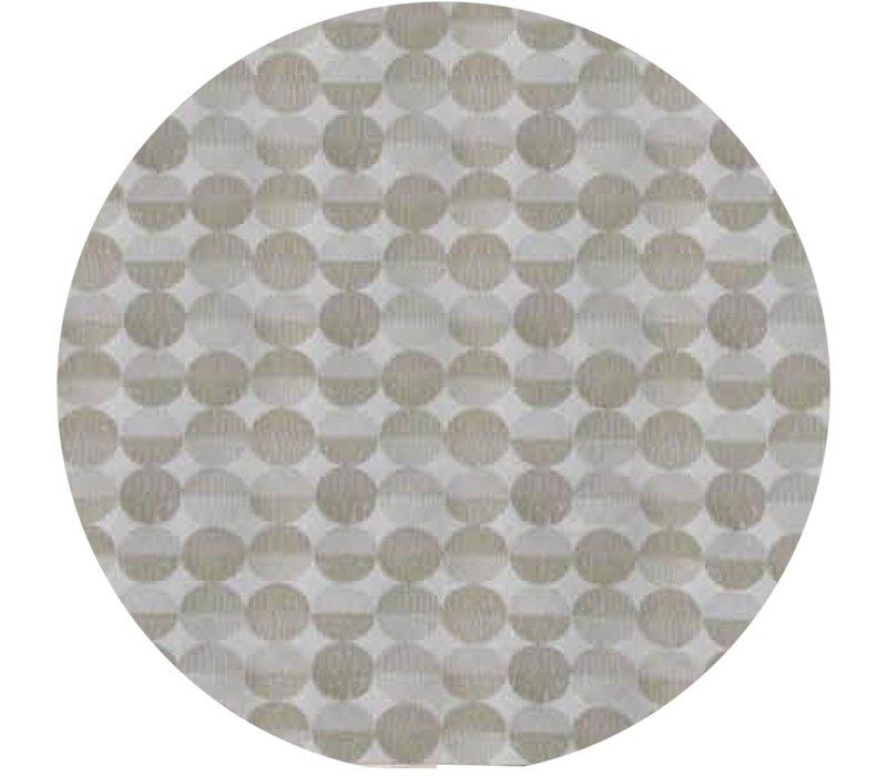 Rond Tafelkleed Gecoat Jacquard- Ø 160 cm – Spliced Hexagon - Beige