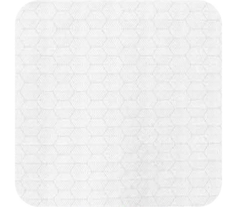 Tafelkleed Gecoat Jacquard Striped Hexagon – 140 x 250 cm – Wit