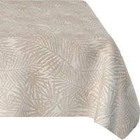Tafelkleed Gecoat Jacquard Palm Leaves – 140 x 250 cm –  Beige