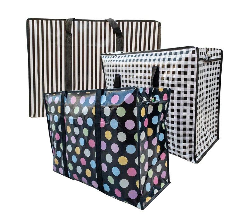 Big Shopper Boodschappentas Modern - 60 x 45 cm - Set van 3
