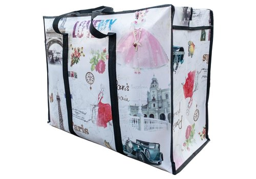 MixMamas Big Shopper met rits - 70 x 50  cm - Paris