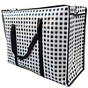MixMamas Big Shopper met rits - 70 x 50  cm - Geruit - Zwart