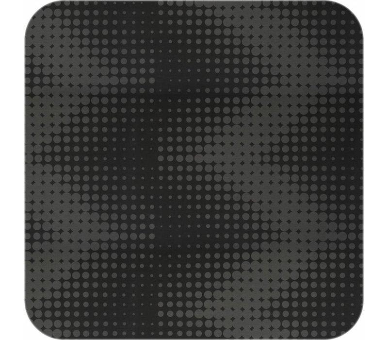 Tafelkleed Gecoat Hippe Stippen- 140 x 250 cm- Zwart
