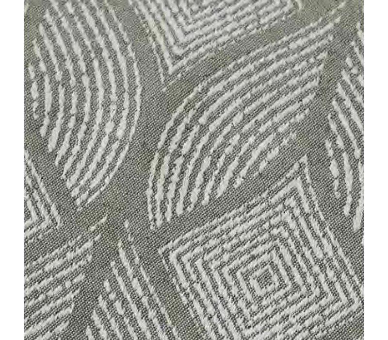 Tafelloper Gecoat Ogee- 140 x 45 cm- Laurier grijs