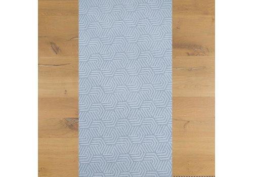 MixMamas Tafelloper Gecoat Seamless Hexagon- 140 x 45 cm- Lichtgrijs