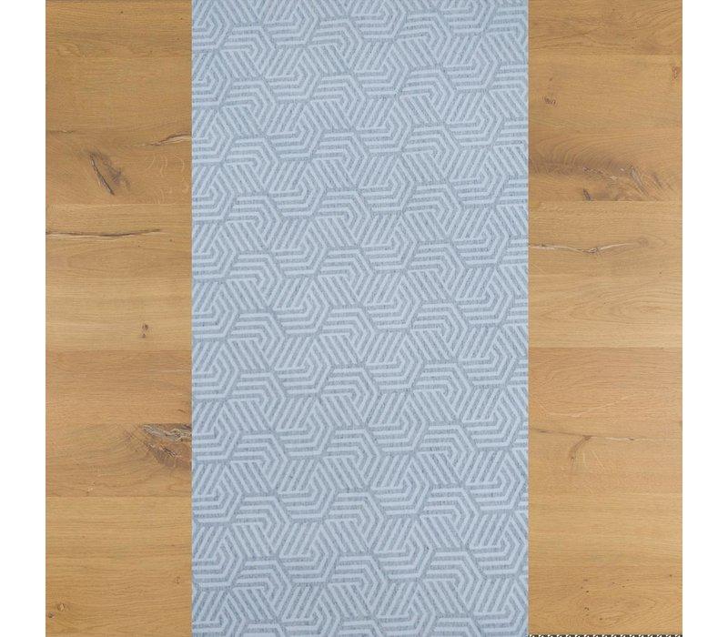 Tafelloper Gecoat Seamless Hexagon- 140 x 45 cm- Lichtgrijs