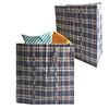 MixMamas Big Shopper Boodschappentas - 55 x 65 cm - Set van 2 - Blauw