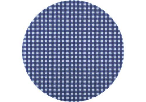 MixMamas Tafelzeil Rond - Ø 140 cm - Ruitje - Donkerblauw