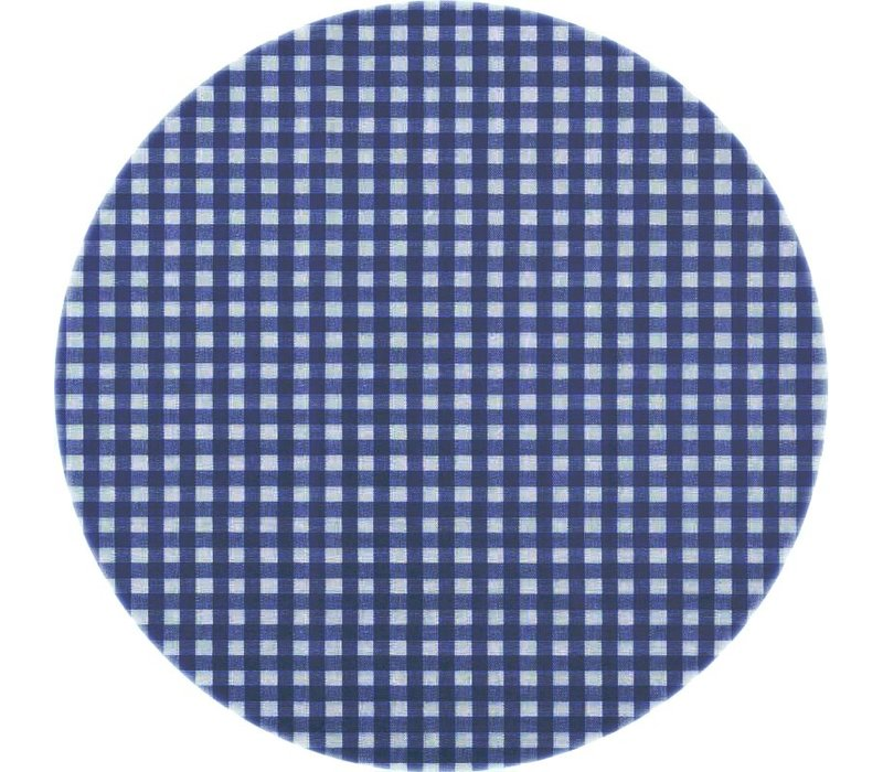 Tafelzeil Rond - Ø 140 cm - Ruitje -Donkerblauw