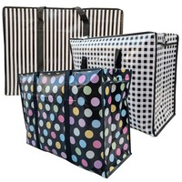 Big Shopper / Opbergtas / Waszak XL Modern - 70 x 50 cm - Set van 3
