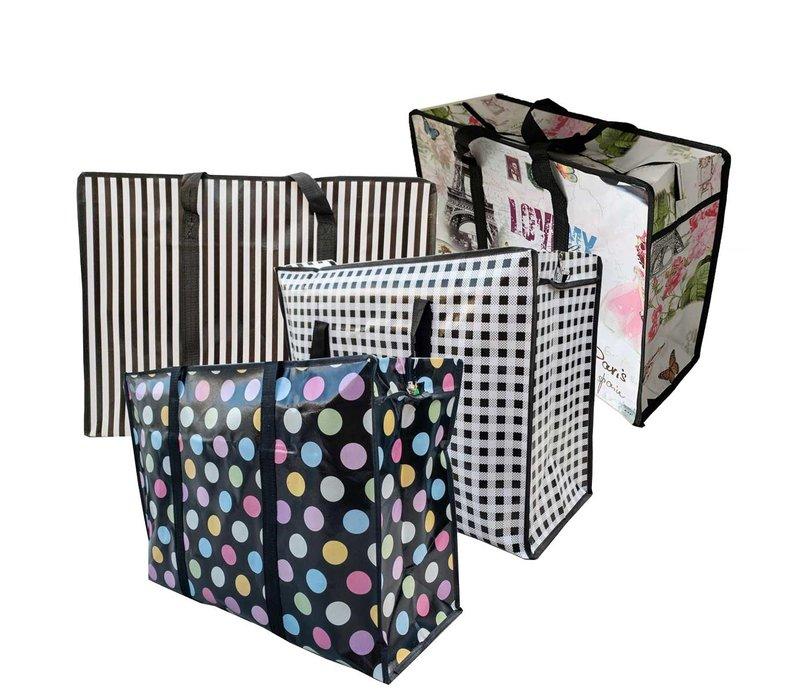 Big Shopper / Opbergtas / Waszak XL Modern - 70 x 50 cm - Set van 4