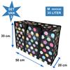MixMamas Big Shopper met rits M - 50 x 35 cm -Stippen- Zwart - Set2