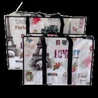 Big Shopper met rits set M & XL - Paris - Set2