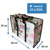 MixMamas Big Shopper Medium met rits - 50 x 35 cm - Paris