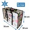 MixMamas Big Shopper met rits -70 x 50 cm - Paris -Set van 2
