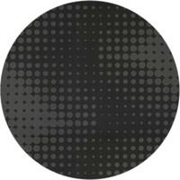 Rond Tafelkleed Gecoat - Ø 140 cm - Hippe Stippen - Zwart